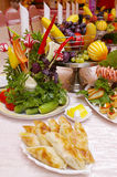 Creative food arrangement stock images