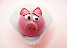 Creative food cakes for child funny pig animal form. Creative pastry food cakes funny funny animal for child royalty free stock photos