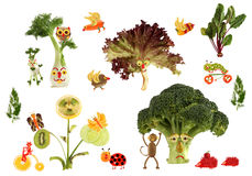 Creative food concept. Fabulous  country, made of fruits and veg Stock Images