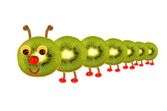 Creative food concept. Funny little  caterpillar made from fruit Stock Photo