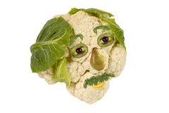 Creative food. Portrait of man made of vegetables Stock Images