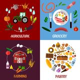 Creative food products concept flat infographics Stock Photo
