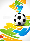 Creative football background with colorful modern  Royalty Free Stock Image