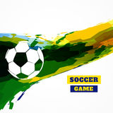 Creative football design. Creative abstract football design vector Stock Images