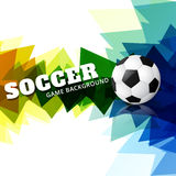 Creative football design. Creative colorful football game design background Stock Images