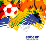 Creative football design. Creative colorful football game design background Royalty Free Stock Photo