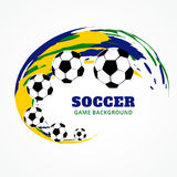 Creative football design. Vector creative football design art Royalty Free Stock Image