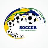 Creative football design Royalty Free Stock Image