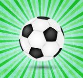 Creative football vector design on green Royalty Free Stock Photo