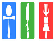 Creative fork knife spoon set Royalty Free Stock Photography