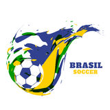 Creative fotball vector design Stock Photography