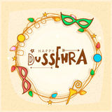 Creative frame for Happy Dussehra celebration. Stock Photo