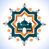 Creative frame with mosque for Ramadan Kareem celebration. Royalty Free Stock Image