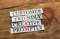 Creative friendly  team acronym Royalty Free Stock Photos