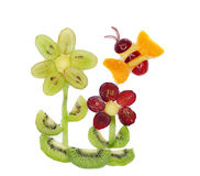 Creative fruit child dessert bee form Royalty Free Stock Image