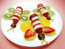 Creative fruit child dessert butterfly form Stock Photos