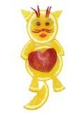 Creative fruit child dessert cat form Royalty Free Stock Photo