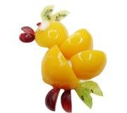 Creative fruit child dessert chick bird form Stock Photo