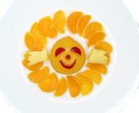 Creative fruit child dessert sun form Royalty Free Stock Photos