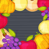 Creative fruits for Thanksgiving Day celebration. Royalty Free Stock Photos