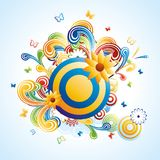 Creative funky background Stock Photography