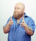 Creative and funny bearded man Stock Photography