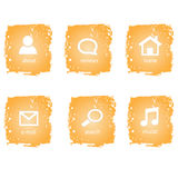 Creative and funny orange buttons Royalty Free Stock Images