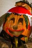 Scary  halloween pumpkin spook. Creative funny and scary halloween pumpkins Stock Photography