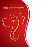 Creative ganesh chaturthi festival greeting card background Stock Photos