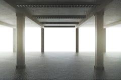 Creative garage with columns vector illustration