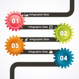 Creative gears Info-graphics options banner Stock Photography