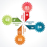 Creative gears Info-graphics options banner Royalty Free Stock Photos