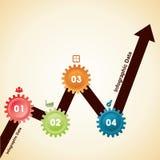 Creative gears Info-graphics options banner Stock Photo