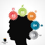 Creative gears Info-graphics options banner Royalty Free Stock Image