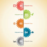 Creative gears Info-graphics options banner Stock Image