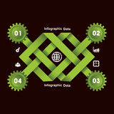 Creative gears Info-graphics options banner Stock Images