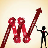 Creative gears Info-graphics options banner Royalty Free Stock Images