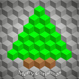 Creative geometric Christmas tree Stock Image