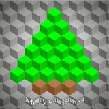 Creative geometric Christmas tree. Illustration Stock Image