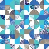 Creative geometric and handdrawn seamless pattern stock illustration