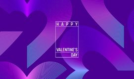 Free Creative Geometric Hearts Wallpaper. Happy Valentines Day Trendy Gradient Shapes Composition. Landing Page Stock Photography - 128780622