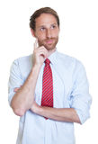 Creative german businessman with beard Royalty Free Stock Photos