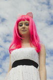 The creative girl Stock Photography