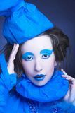 Creative girl. Royalty Free Stock Photography