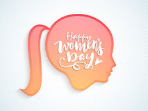 Creative girl face for Women's Day celebration. Royalty Free Stock Photos