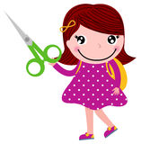 Creative girl with scissors Stock Photography