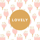 Creative girlie card Royalty Free Stock Image