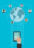 Creative global networking concept design Stock Photo