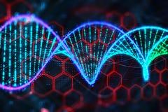 Glowing DNA wallpaper royalty free illustration