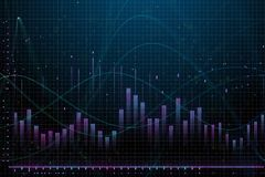 Market growth, finance and analysis concept. Creative glowing forex chart background. Market growth, finance and analysis concept. 3D Rendering Stock Photo